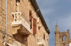 Balcone antico Fotografia Stock