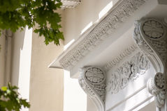 Balcone antico, un pezzo di storia Immagini Stock