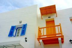 Balcone arancione Fotografie Stock Libere da Diritti