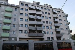 Balcone asimmetrico fotografia stock