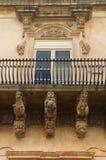 Balcone barrocco di Noto immagine stock