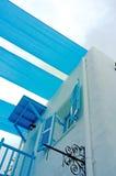 Balcone blu Immagine Stock