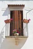 Balcone caratteristico Mottola La Puglia L'Italia Fotografia Stock Libera da Diritti