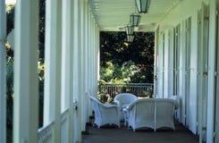 Balcone coloniale fotografie stock libere da diritti