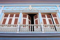 Balcone coloniale spagnolo Immagine Stock