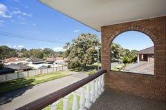 Balcone con una vista Fotografia Stock