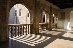 Balcone del castello Fotografie Stock Libere da Diritti