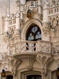 Balcone del castello di Hluboka Fotografia Stock Libera da Diritti