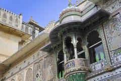 Balcone del mosaico Fotografia Stock
