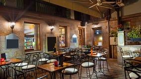 Balcone del ristorante fotografia stock libera da diritti