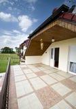Balcone della casa moderna Fotografia Stock