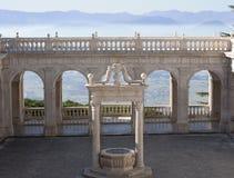Balcone di cielo nell'abbazia di Montecassino Fotografia Stock Libera da Diritti