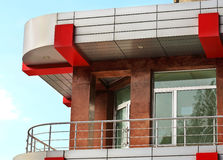 Balcone di costruzione moderna Fotografia Stock