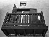 Balcone di legno Fotografia Stock Libera da Diritti