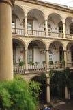 Balcone di pietra Fotografia Stock