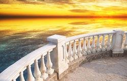 Balcone di pietra immagini stock