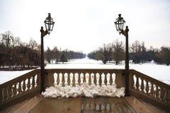 Balcone di Snowy Immagini Stock Libere da Diritti