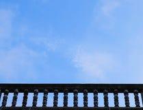 Balcone e cielo Immagini Stock