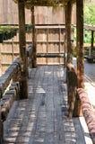 Balcone e corridoio di legno Fotografia Stock
