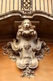 Balcone e leone Immagine Stock Libera da Diritti