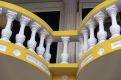 Balcone edificio di Aruba Immagine Stock