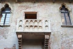 Balcone famoso di Juliet a Verona immagini stock