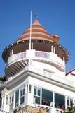 Balcone fronte della spiaggia Fotografia Stock