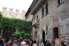 Balcone Giulietta,维罗纳,意大利 库存照片