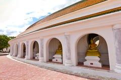 Balcone intorno al pagoda in un tempiale Fotografia Stock