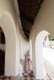 Balcone intorno al pagoda in un tempiale Immagini Stock