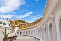 Balcone intorno al pagoda in un tempiale Fotografia Stock Libera da Diritti