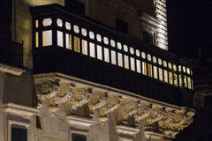 Balcone a La Valletta Immagine Stock