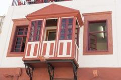Balcone in Rhodes Old Town Fotografia Stock Libera da Diritti