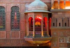 Balcone rosa dell'arenaria - Jaipur Fotografia Stock