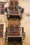 Balcone rustico Fotografia Stock Libera da Diritti