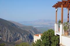 Balcone sopra la valle Fotografie Stock Libere da Diritti