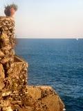 Balcone sul mare Immagini Stock