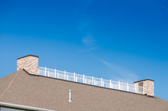 Balcone superiore del tetto Fotografia Stock Libera da Diritti