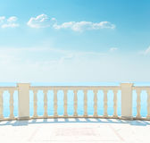 Balcone vicino al mare Fotografia Stock Libera da Diritti