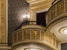 Balcone vuoto del teatro Fotografia Stock