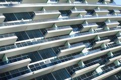 Balcones abstractos del edificio Imagen de archivo libre de regalías