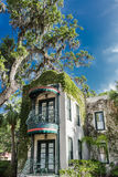 Balcones adornados verdes en el apartamento meridional Fotografía de archivo