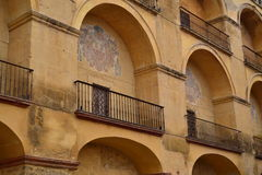 Balcones. Balconies on the south side of the Mosque of Cordoba, built in the fifteenth century and in the Christian era Royalty Free Stock Photos