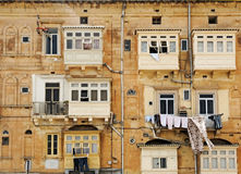 Balcones cerrados Foto de archivo libre de regalías