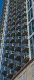Balcones de cristal del apartamento Imágenes de archivo libres de regalías