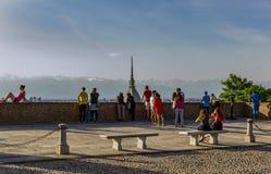 Balcones del dei Cappuccini de Colle en Turín Piamonte, Italia imágenes de archivo libres de regalías