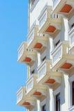 Balcones del hotel en Salónica, Grecia fotos de archivo libres de regalías