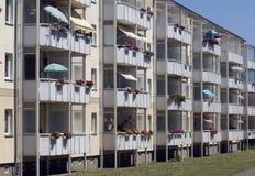 Balcones, edificio vivo Foto de archivo