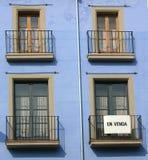Balcones en Cataluña, España Imagen de archivo