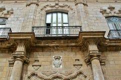Balcones en edificios históricos viejos Fotografía de archivo libre de regalías